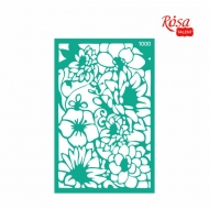 Reusable Self-Adhesive Stencil Rosa 13 x 20 cm : Background Flowers No.1000