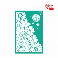 Rosa stencil 13*20 cm Background Flowers No.1002