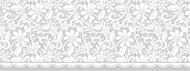 Heyda : Window Cling Tape : 7.6 x 200 cm : White Flowers
