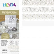 Heyda : Paper Strips for Christmas Ornaments : Froebel Stars : White