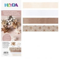 Heyda : Paper Strips for Christmas Ornaments : Froebel Stars : Rose Gold