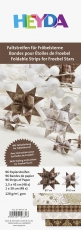 Heyda : Paper Strips for Christmas Ornaments : Froebel Stars : Brown