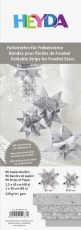 Heyda : Paper Strips for Christmas Ornaments : Froebel Stars : Silver