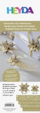 Heyda : Paper Strips for Christmas Ornaments : Froebel Stars : Gold