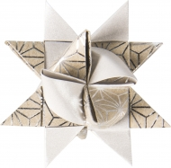 Heyda : Paper Strips for Christmas Ornaments : Froebel Stars : Pale Silver