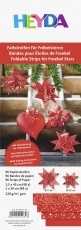 Heyda : Paper Strips for Christmas Ornaments : Froebel Stars : Red