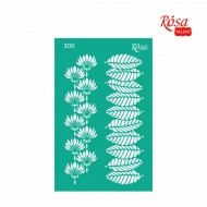 Reusable Self-Adhesive Stencil Rosa 13 x 20 cm : Leaves
