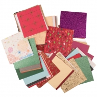 Christmas Themed Scrap Papers Pack : 50 Designs : 100 Sheets