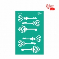 Reusable Self-Adhesive Stencil Rosa 13 x 20 cm : Keys