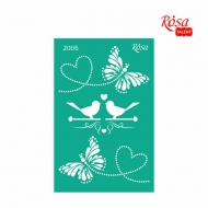 Reusable Self-Adhesive Stencil Rosa 13 x 20 cm : Butterflies