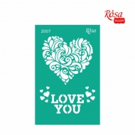 Reusable Self-Adhesive Stencil Rosa 13 x 20 cm : Love Heart