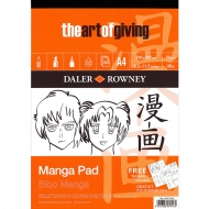 Manga Drawing Pad Daler-Rowney : 70 gsm : 50 sheets : A4
