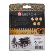 Sakura Pigma Micron : Black Fineliners : Set of 12 : Black and Gold Edition