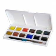 Watercolour Set Daler Rowney Aquafine Pocket 12 Colours