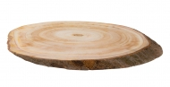 Knorr Prandell : Oval Natural Wood Log Slice : from 24 to 26 cm