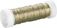 Enameled Iron Craft Wire : Ø 0.3 mm : 50 m : Brass Plated