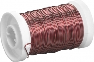 Enameled Iron Craft Wire : Ø 0.5 mm : 50 m : Red