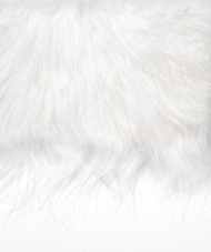 Craft Faux Fur Fabric for Toy Making : White