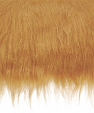 Craft Faux Fur Fabric for Toy Making : Copper Red