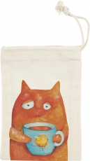 Cotton Drawstring Bag : 10 x 14.5 cm