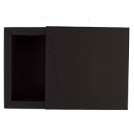 Box Made From a 250 gsm Matt Black Board 11 x 11 x 4 cm