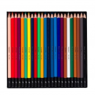 Tin of 24 Coloured Pencils : Bruynzeel : College : Stars