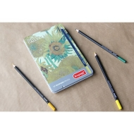 Tin of 12 Coloured Pencils : Bruynzeel : National Gallery : Van Gogh : Sunflowers