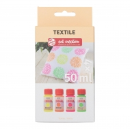 Talens : Art Creation : Fabric Paint : Set of 4 Neon Colours