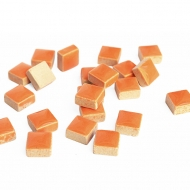 Orange Mosaic Tiles 8 x 8 mm, 50 pcs