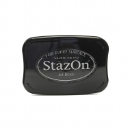 Quick Drying Solvent Ink Pad Tsukineko StazON Black