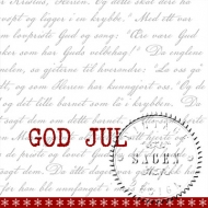 Sagen Vintage Nostalgic Paper Napkins : Pack of 20 : God Jul 33 x 33 cm