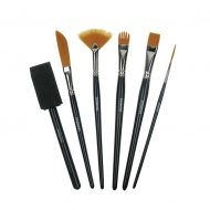Derwent Techniques Brushes, Pack of 6
