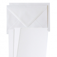 10 pcs A6 Pearlescent Folded Cards with Envelopes