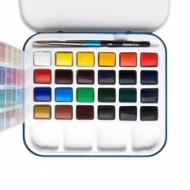 Watercolour Set Daler Rowney Aquafine Travel 24 Colours