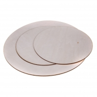 Round Plywood Sheet 2.8 mm 25 cm