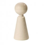 Beеch Wood Cone Figure (Doll) 70 mm, 3 pcs