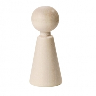 Beеch Wood Cone Figure (Doll) 37 mm, 6 pcs