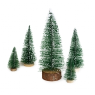 Mini Christmas Bottle Brush Frosted Tree 15 cm