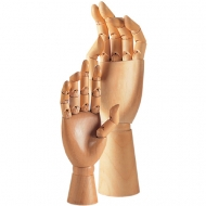 Wooden model of hand slanchogled 25 cm right