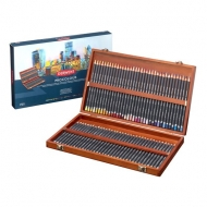 Derwent Procolour pencils set of 72 colours in a wooden box