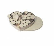 Christmas box papier-mache heart KNORR prandell 24 pcs