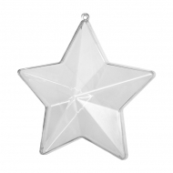 Fillable Clear Acrylic Star 90 mm