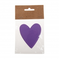 Slanchogled heart 80 mm pack 24 pcs Col. 61-lila